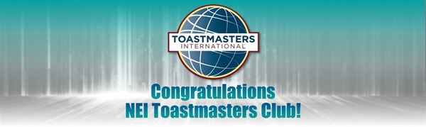 NEI Global Relocation Recognized as a Toastmasters Distinguished Club for Third Year in a Row